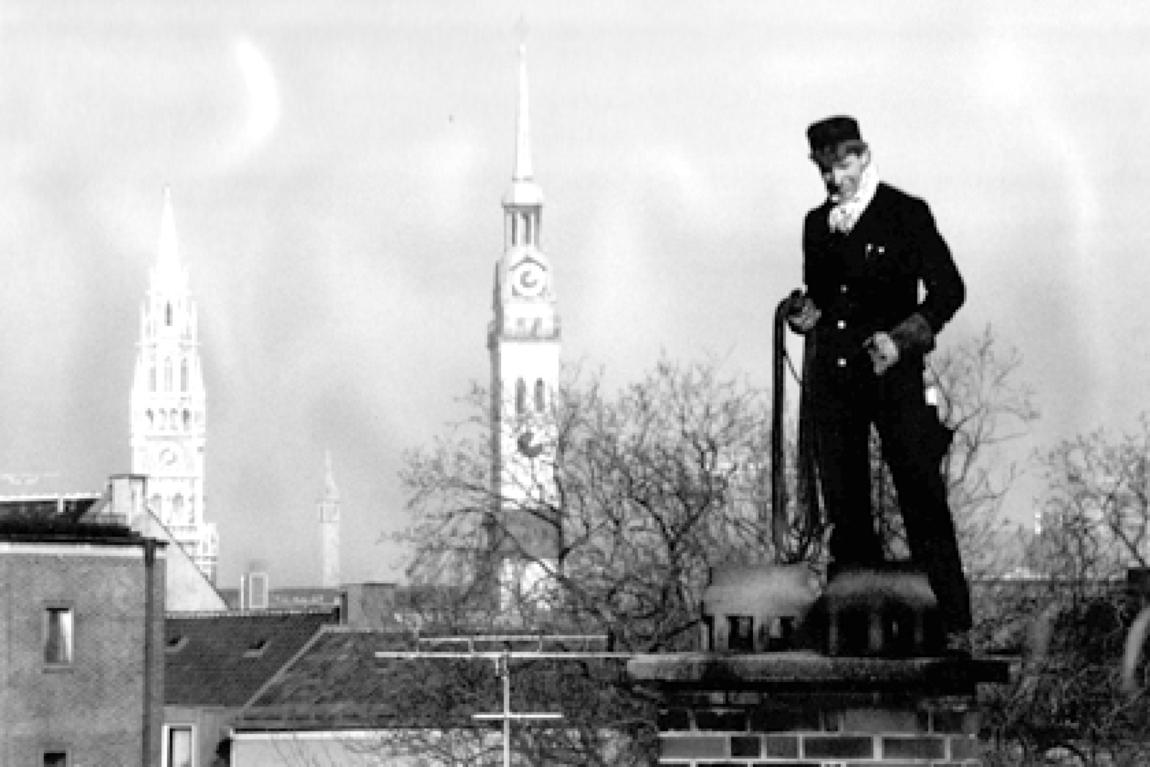 Hartmut Trost 1990, fotografiert von einer Kundin aus dem Fenster, München